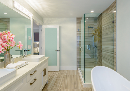 Bathroom Glass Installation in Riverside, CA